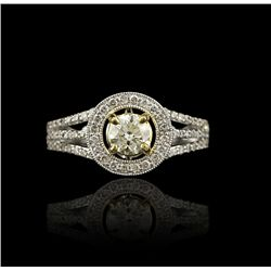 14KT White Gold 0.97ctw Diamond Unity Ring A4166