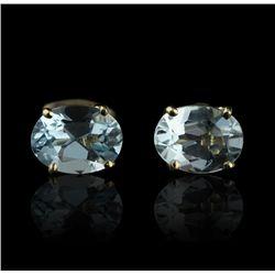 14KT Yellow Gold 2.00ctw Aquamarine Earrings GB931