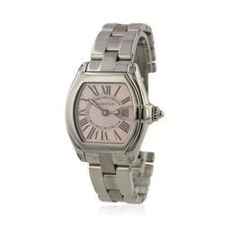 Ladies Cartier Roadster Pink Dial Stainless Steel Wristwatch GB805