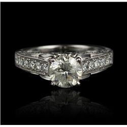18KT White Gold 1.76ctw Diamond Ring FJM2018