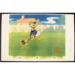 "Walt Disney ""How to Play Golf: Donald"" Serigraph Cel DisneySeri327"