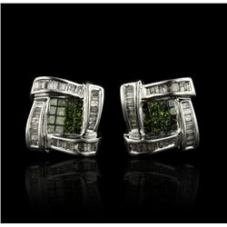 10KT White Gold 1.22ctw Diamond Earrings A4360