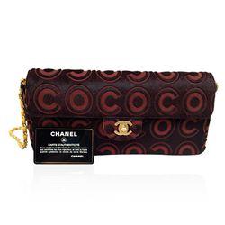 Authentic RARE Chanel Black and Rust Pony Hair Pochette Handbag V14