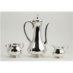 Vintage/Antique Tiffany & Co. Sterling Silver 3-Piece Tea Set ED1414