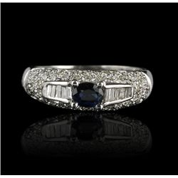 14KT White Gold 0.40ct Sapphire and Diamond Ring GB732