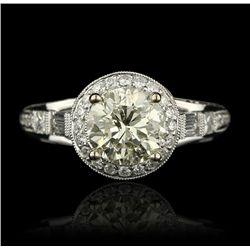 18KT White Gold 3.06ctw Diamond Unity Ring A4287