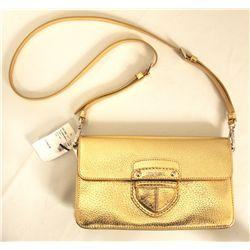 "BNWT Prada ""Pattina Cinghiale"" Gold Handbag ED1179"