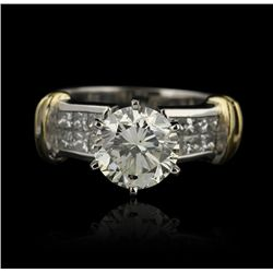 18KT White Gold 1.89ct EGL USA SI1/K Diamond Unity Ring GB702