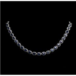 14KT White Gold 40.87ctw Saphire and Diamond Necklace RM817