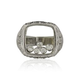 14KT White Gold 1.05ctw Diamond Floating Style Ring FJM2425