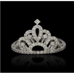 14KT White Gold 0.45ctw Diamond Tiara Ring FJM2415