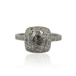 14KT White Gold 3.04ctw Diamond Ring A4488
