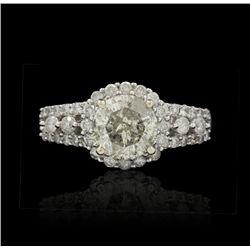 14KT White Gold 2.20ctw Diamond Unity Ring A4487