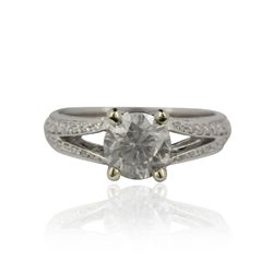 14KT White Gold 1.90ctw Diamond Ring A4505