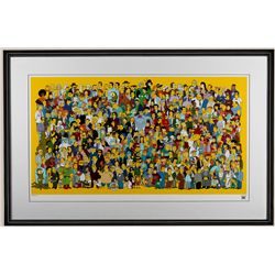 "The Simpson's ""Where's Bart"" Limited Edition Giclee ED1407"