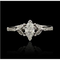 18KT White Gold 0.62ctw Diamond Ring RM859