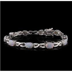 SILVER 5.02ctw Opal Bracelet SLV59