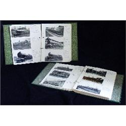 Five albums containing approximately 900 photographs, illustrating  every class of locomotive owned