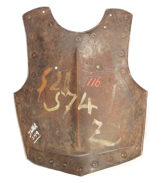A CONTINENTAL CUIRASSIER BREASTPLATE