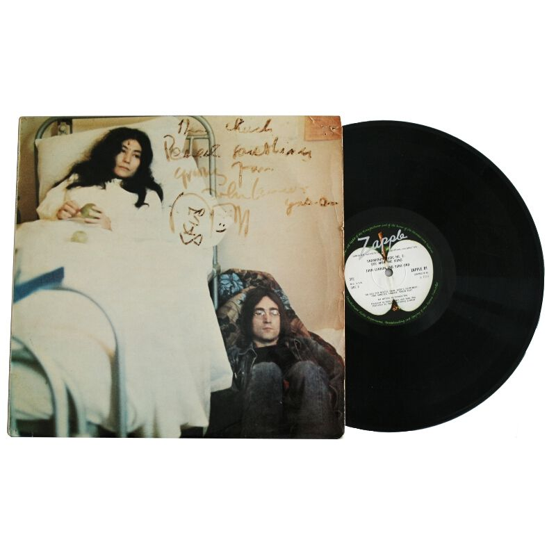 John Lennon And Yoko Ono Signed Album Cover