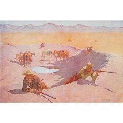 The Shadow at the Waterhole by Remington, Frederic