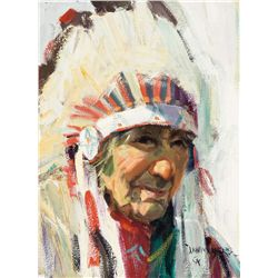 Chief Shot on Both Sides, Blackfoot Canada by Moyers, John
