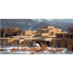 Taos Adobes by Falk, Joni