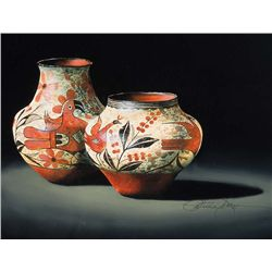 Zia Vase and Jar, Circa 1930 by Dobson, Patricia