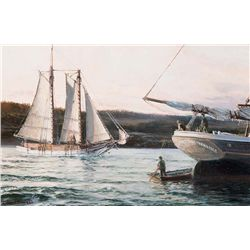 Electra Leaving Mendocino 1875 by Thimgan, David