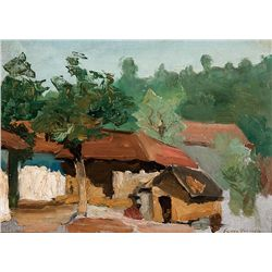 Village Scene by Gaspard, Leon