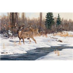 Winter Creek - White Tails by Carlson, Ken