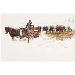 Montana Winter by Hulings, Clark