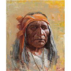 Old Apache by Wieghorst, Olaf