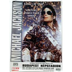 Michael Jackson Signed Limited Edition HIStory Tour Poster