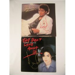 Michael Jackson Thriller/They Don't Care About Us  Signed Album Covers