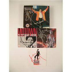 Michael Jackson Signed CD Inserts