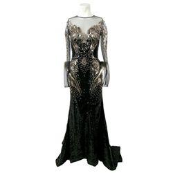 Lady Gaga Laser Cut Crystal Dress By Cinco