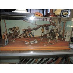 1960's KNOTT'S BERRY FARM CALICO GHOST TOWN PARK ORIGINAL MINIATURE GRAVEYARD MODEL WESTERN DIORAMA