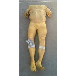 COMPLETE ARMATURED MALE CORPSE POLY FOAM BODY HORROR PROP