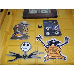 THE NIGHTMARE BEFORE CHRISTMAS JACK SKELLINGTON 10TH ANNIVERSARY PROMO STICKERS