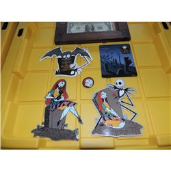THE NIGHTMARE BEFORE CHRISTMAS SALLY VINTAGE 10TH ANNIVERSARY PROMO STICKERS
