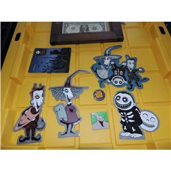 THE NIGHTMARE BEFORE CHRISTMAS LOCK SHOCK & BARRELL 10TH ANNIVERSARY PROMO STICKERS
