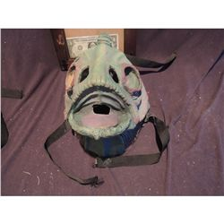 WEARABLE ANGLER FISH GILL MAN FULL FACE MASK WITH STRAPS PAINTED