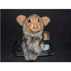 MONSTER RAT WEARABLE FULL HEAD AND NECK MASK WITH FUR