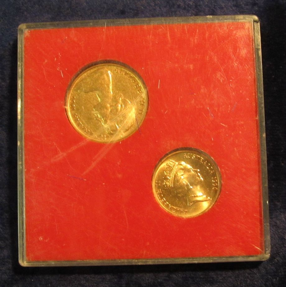 Farewell to Australia 1 Cent /& 2 Cent Coins Sealed In Original Plastic CASE