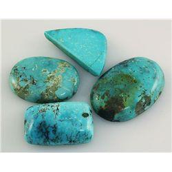 Natural Turquoise 195.02ctw Loose Gemstone 3pc Big Size