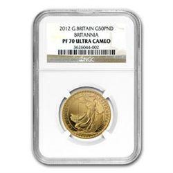 2012 1/2 oz Proof Gold Britannia PF-70 UCAM NGC