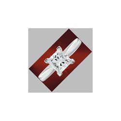 1.50 ct Princess cut Diamond Solitaire Ring, G-H, SI2