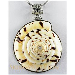 Natural 201.87ctw Mother Of PearlSea Shell Silver
