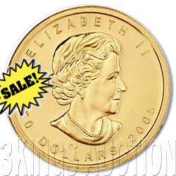 Canada Maple Leaf One Ounce Gold Coin (Date Our Choice)